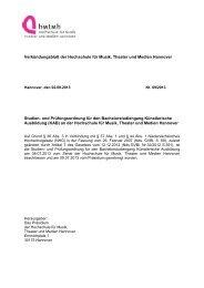 Studien- und Prüfungsordnung 2013 - Hochschule für Musik ...