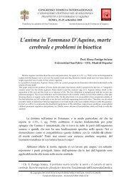 L'anima in Tommaso D'Aquino, morte cerebrale e ... - E-Aquinas