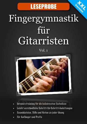 Fingergymnastik für Gitarristen Leseprobe PDF runterladen