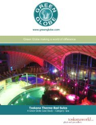 Toskana Therme Bad Sulza - Green Globe Certification