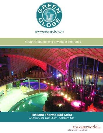 Toskana Therme Bad Sulza - Green Globe Certification
