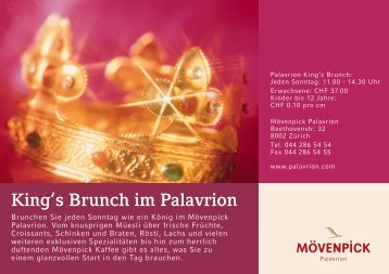 King's Brunch im Palavrion