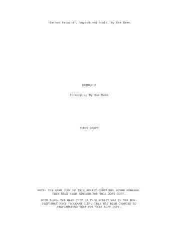 Batman 2 Unproduced.pdf - The Batman Universe