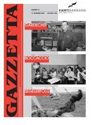 G A Z Z E T T A - Kantonsschule Sargans