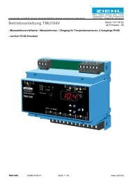 Betriebsanleitung TMU104V - Ziehl industrie-elektronik GmbH + Co ...