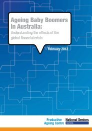 Ageing Baby Boomers in Australia: - Productive Ageing Centre