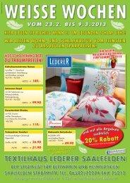 Weisse Wochen 02. 2008 - Textil Lederer in Saalfelden
