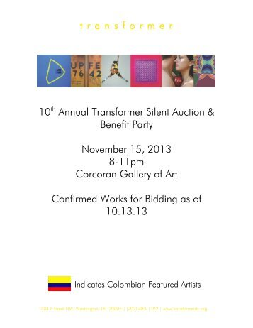 10th Annual Transformer Silent Auction & Benefit Party November ...