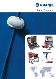 Brochure Testing Equipment (PDF) - Wegener International GmbH
