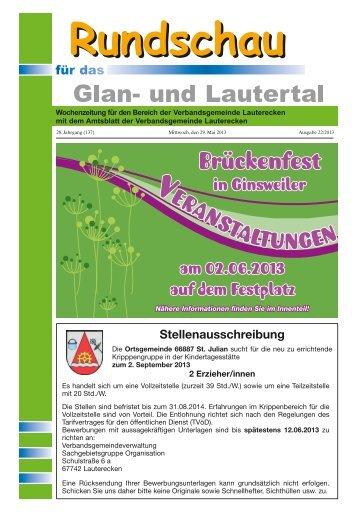 Amtsblatt KW 22 - Verbandsgemeinde Lauterecken