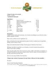 Crêpes d'avoine et de sarrasin Donne: 12 crêpes * produits d'avoine ...