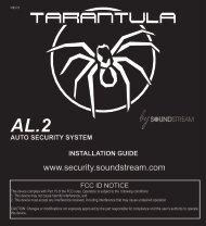 Installation Manual - Tarantula Security - Soundstream