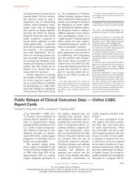 Public Release of Clinical Outcomes Data - SF Coordinating Center ...