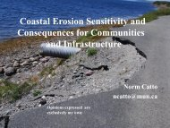 Coastal Erosion Sensitivity and Consequences for ... - NEIA