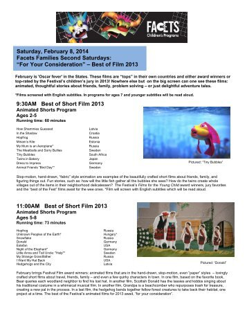 February 8 - Chicago International Children's Film Festival