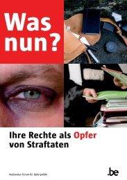 Ihre Rechte als Opfer von Straftaten - forum national en faveur des ...