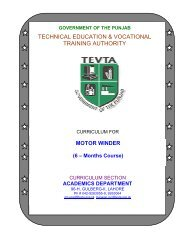 technical education & vocational training authority - Trade Testing ...
