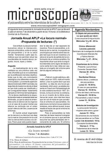 Descargar versión en pdf - Asociación de Psicoanálisis de La Plata