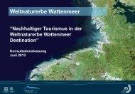 Presentation der Strategie und des Aktionsplanes - Wadden Sea ...