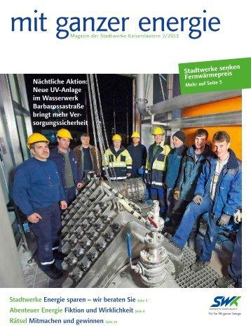 Stadtwerke Energie sparen – wir beraten Sie Seite 5 ... - SWK