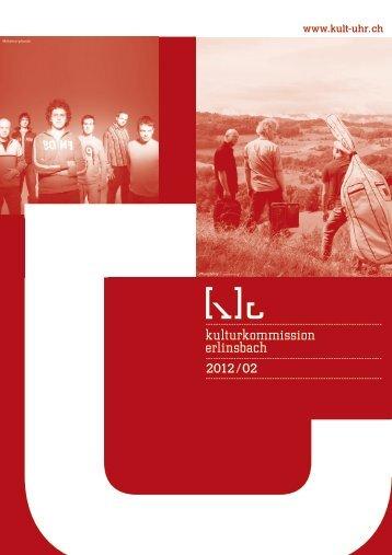 2. Halbjahresprogramm - Kulturkommission Erlinsbach