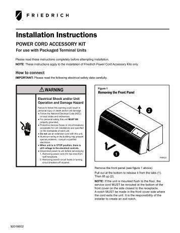 Trane ptac installation manual