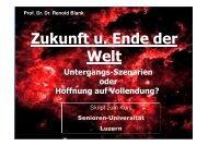 Zukunft und Ende der Welt Skript zum Kurs - Senioren-Universität ...