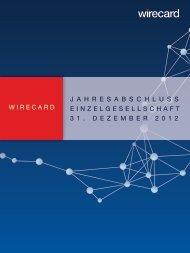Jahresabschluss (Einzelabschluss) - Wirecard AG