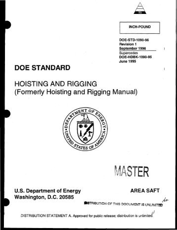 DOE-STD-1090-96, DOE Standard Hoisting and Rigging Manual ...