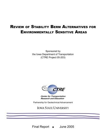 review of stability berm alternatives for environmentally sensitive areas