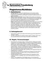 Allgemeine Erklärung zum Plagiarismus - Kantonsschule ...