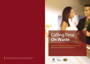 Calling Time On Waste - Environmental Protection Agency