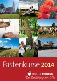 Katalog Fastenkurse 2014 - Kloster Pernegg