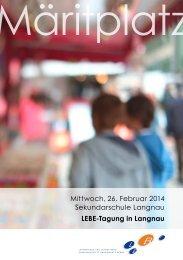 Tagungsprogramm als PDF öffnen - Lehrerinnen und Lehrer Bern ...