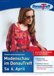 Modenschau im DonauTreff Sa 6. April