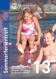 Flyer Sommerferientreff 2013 - zurück - Saarlouis