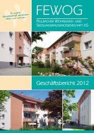 Geschäftsbericht 2012 - FEWOG Fellbach