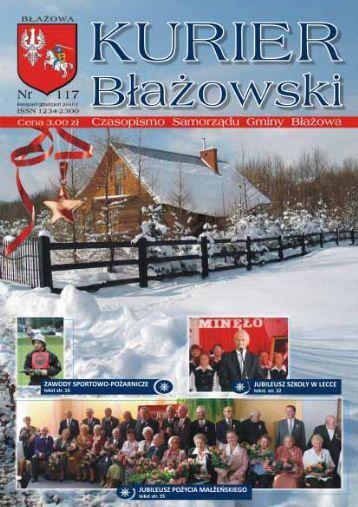 Kurier B³a¿owski nr 117 listopad/grudzień 2010 - biblioteka.blazowa ...