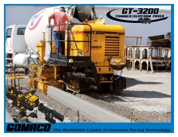 GT-3200 Brochure - GOMACO Corporation
