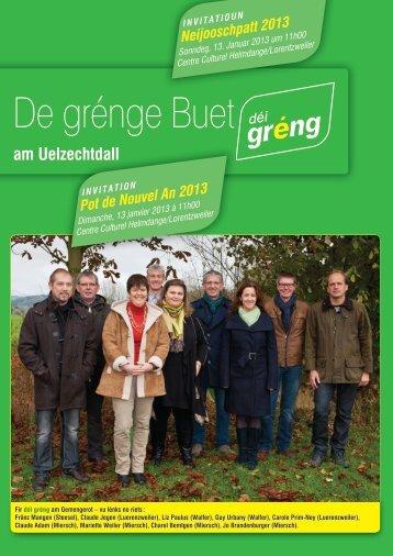 De grénge Buet - déi gréng Luerenzweiler