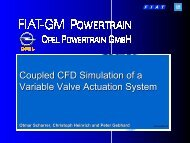 Coupled CFD Simulation of a Variable Valve Actuation System