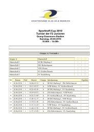 Sporttreff-Cup 2010 Turnier der F2 Junioren - SF Blau Gelb Marburg
