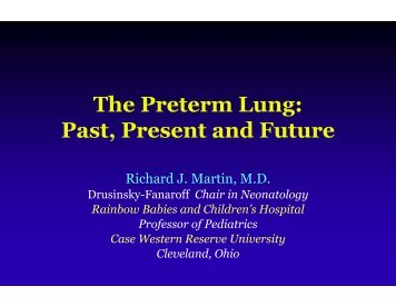 The Preterm Lung - Healthcare Professionals