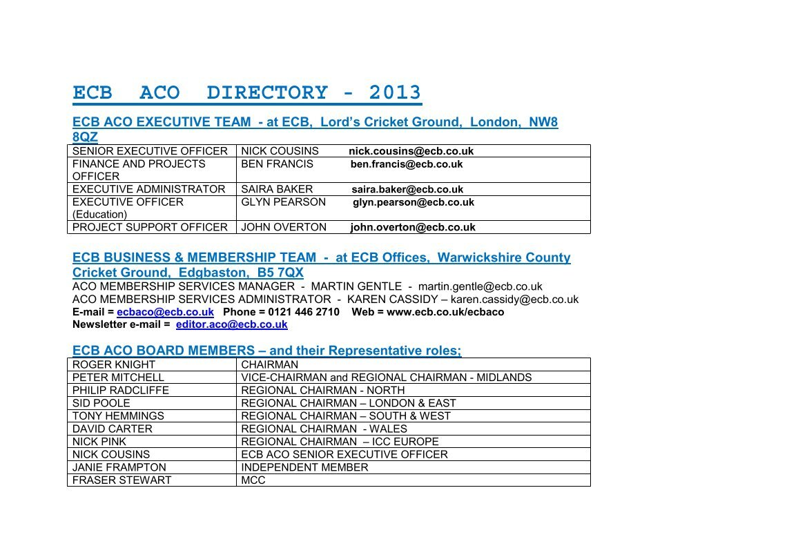 Yorkshire Cricket Board - News - ECB ACO Scorer Roadshows