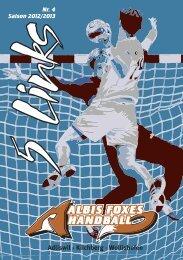 Vereinsheft, 5 Links, Nr. 4, Saison 2012/13 - Albis Foxes Handball
