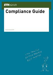 Compliance Guide Deutsch - IT Services of ETH Zurich - ETH Zürich