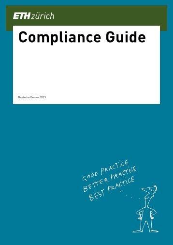 Compliance Guide Deutsch - IT Services of ETH Zurich - ETH Zürich