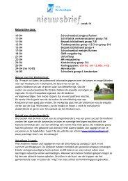 week 14 Belangrijke data: 10-04 Schoolvoetbal jongens Ruinen 11 ...