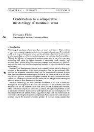 Contribution to a comparative meteorology of n10untain areas