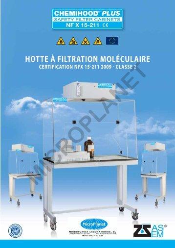 HOTTE À FILTRATION MOLÉCULAIRE - Micro Planet